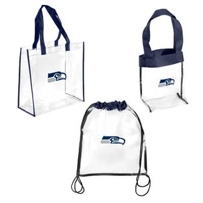 Seattle Seahawks Fan Purses - Totes - Clear Bags - Backpacks