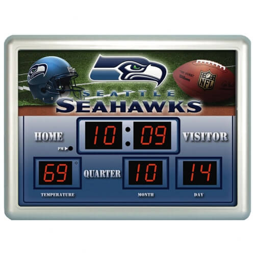 Seattle Seahawks Football Clocks