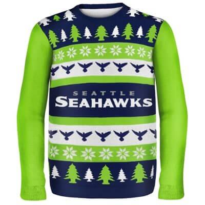 Seattle Seahawks Woodmark Ugly Sweater