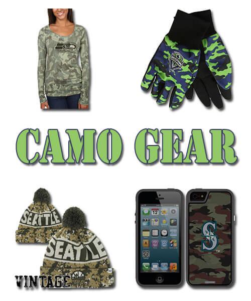Seattle Teams Camo Fan Gear